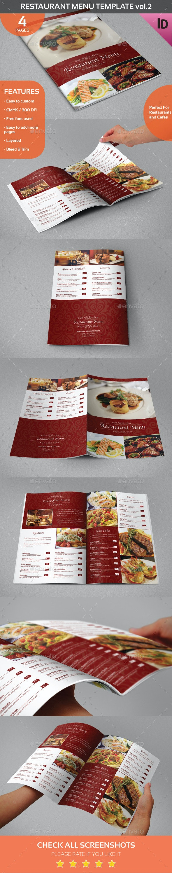 Restaurant Menu Template vol.2 - Food Menus Print Templates