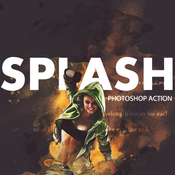 Splash Photoshop Action
