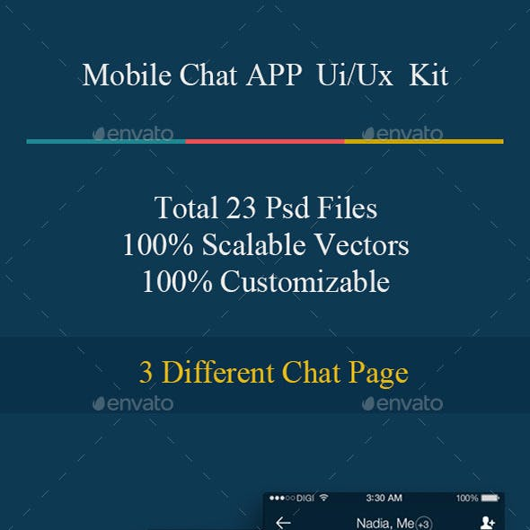 Mobile Chat Application Ui Ux Kit