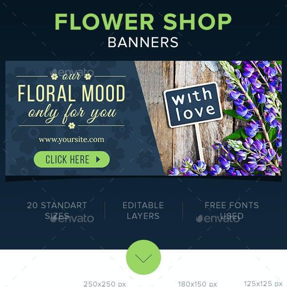 Flower Shop Banners Set
