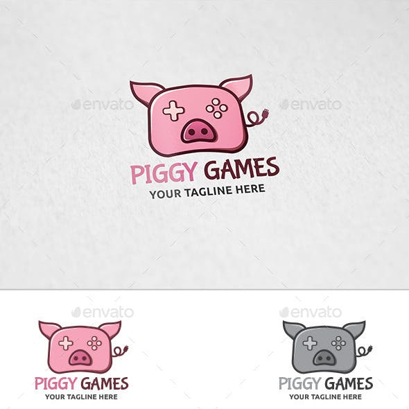 Piggy Games - Logo Template