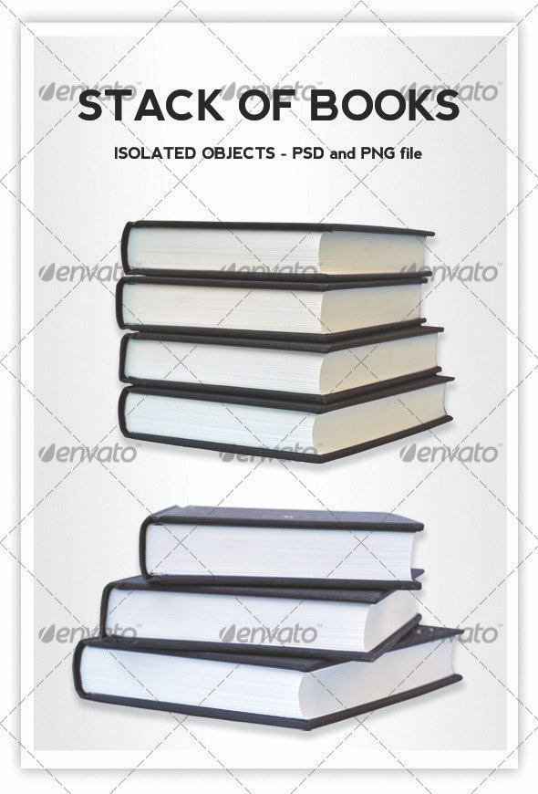 Books - Home & Office Isolated Objects