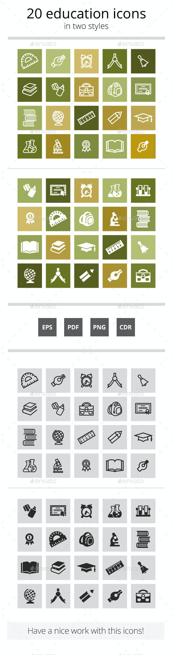 20 Education Icons - Miscellaneous Icons