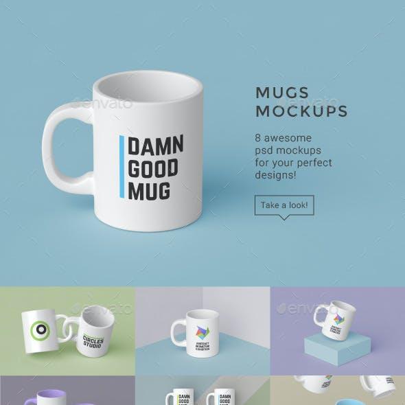 Mugs Mockups Pack