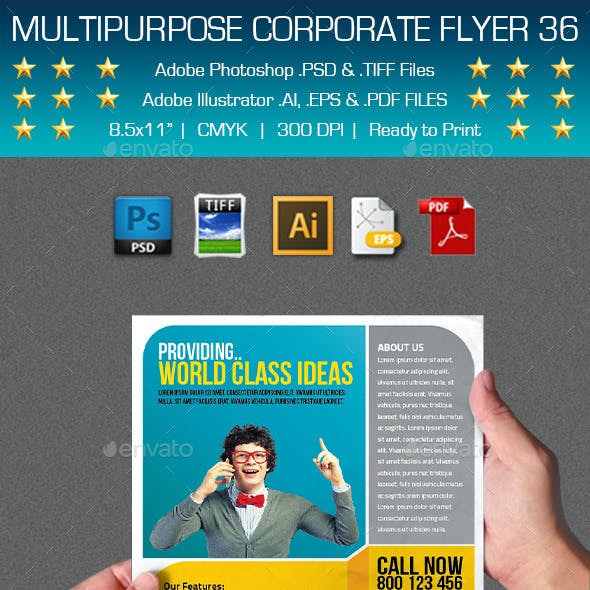 Multipurpose Corporate Flyer 36