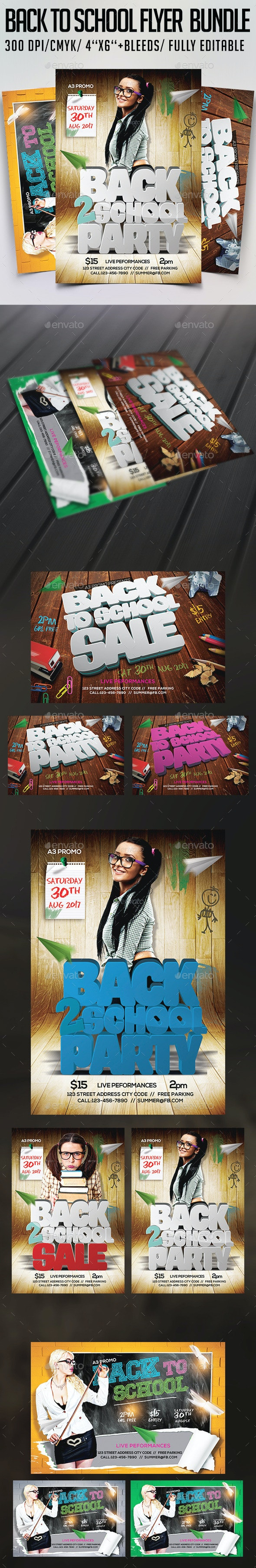 Back to School Flyer Bundle - Clubs & Parties Events