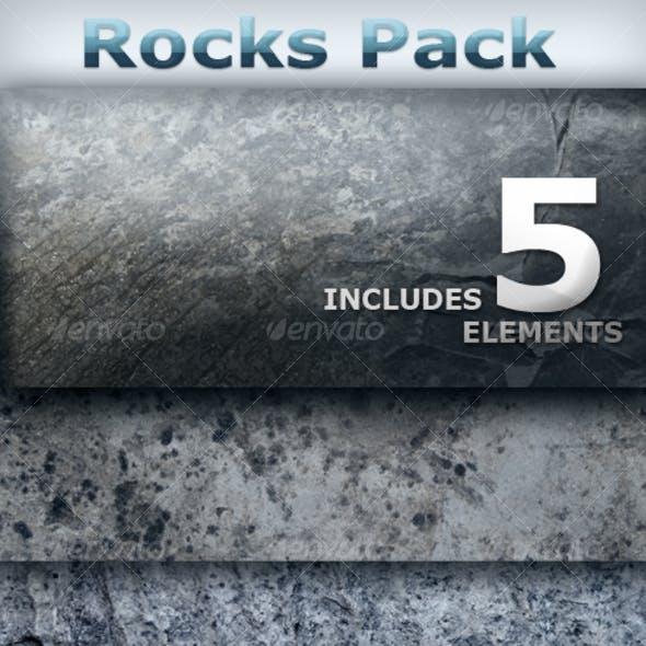 Rock Texture Pack - 5 Hi-Res Elements