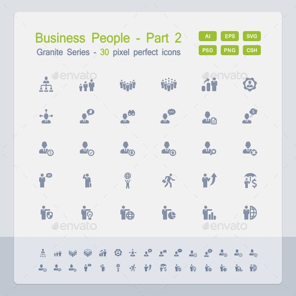 Business People Icons (Part 2) - Granite Series