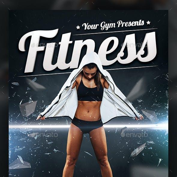 Fitness & Fight Sport Flyer Template