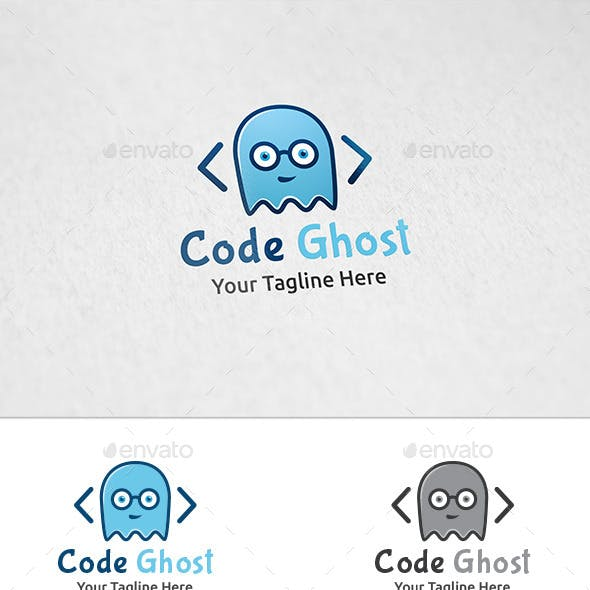 Code Ghost - Logo Template