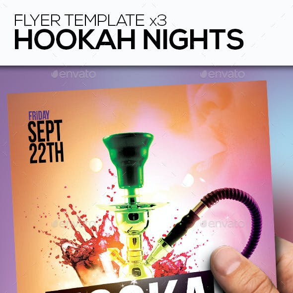 Hookah Nights Party Flyer Template