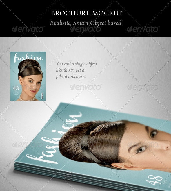 Brochure or Magazine Mockup - Magazines Print