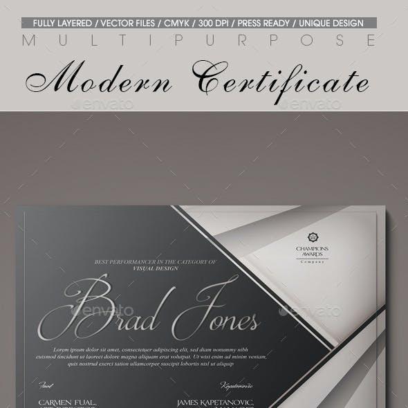 Multipurpose Modern Certificate v.12