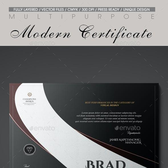 Multipurpose Modern Certificate v.13