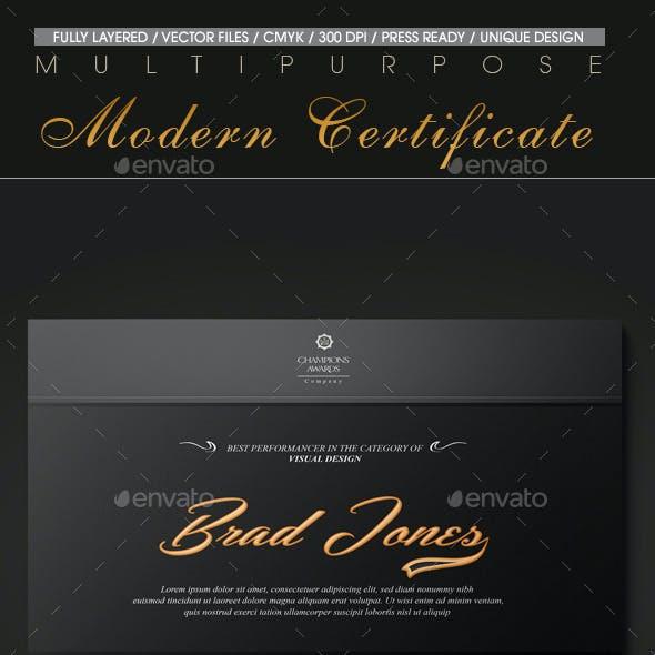 Multipurpose Modern Certificate v.14