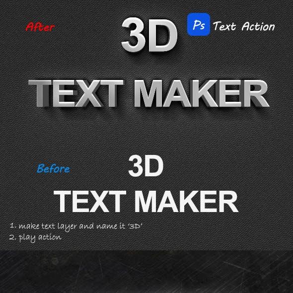 3D Maker Text Action
