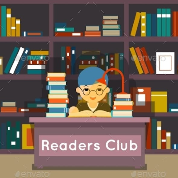 Readers Club. Education And Love Of Reading