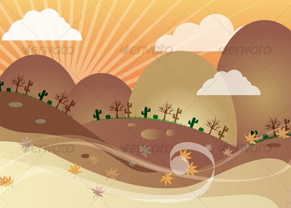 Cartoon Background 4 - Landscapes Nature