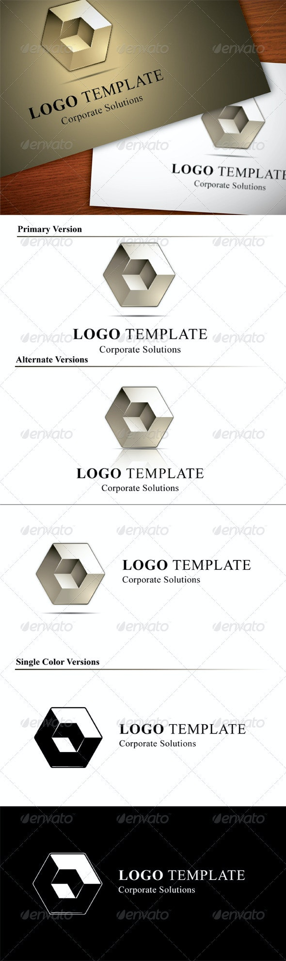 Abstract Logo Template, Corporate Solutions - 3d Abstract