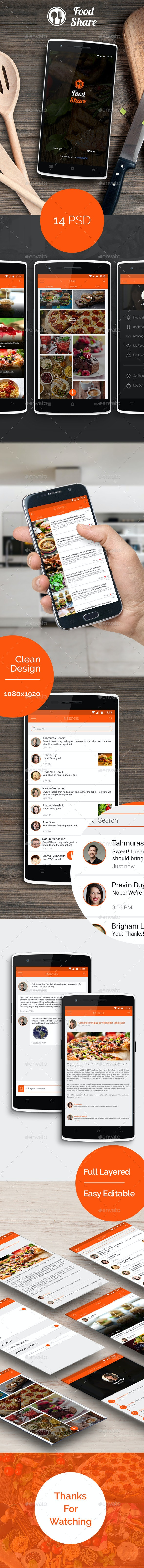 Food Share - Food App Template UI - User Interfaces Web Elements