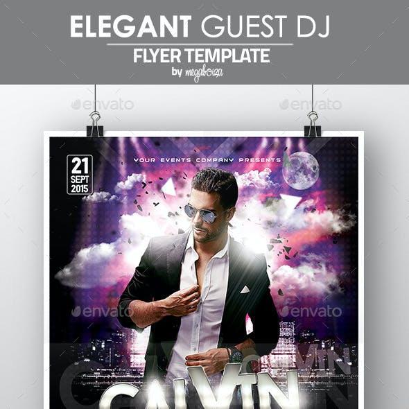 Elegant Guest DJ Flyer / Poster Template