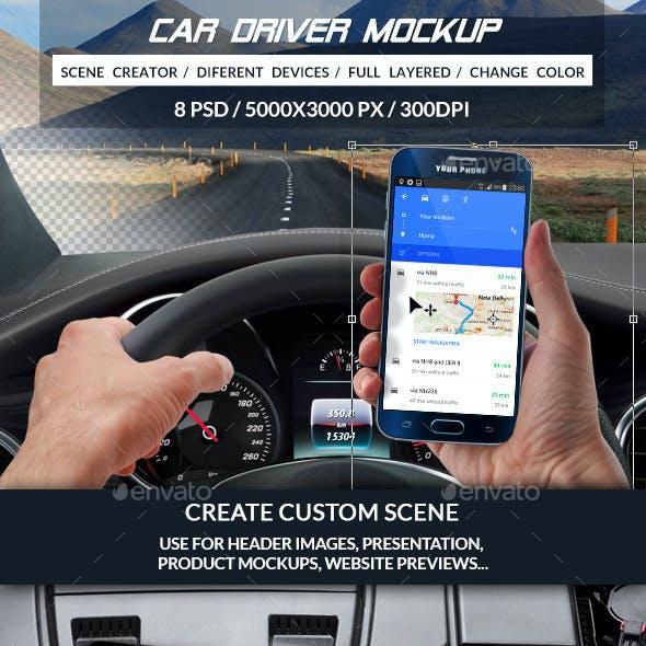 Car Driver Mockup