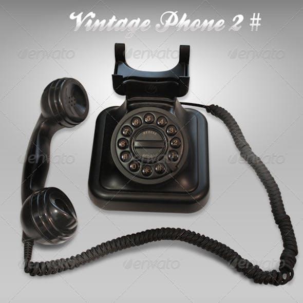 Black Vintage phone 2#