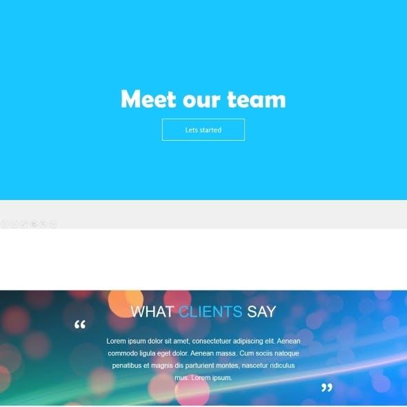 Meet our team - Powerpoint presentation template