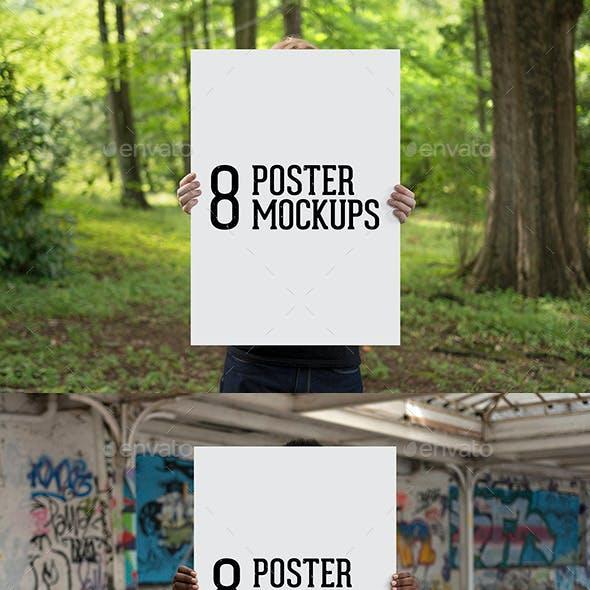 8 Poster Mockups