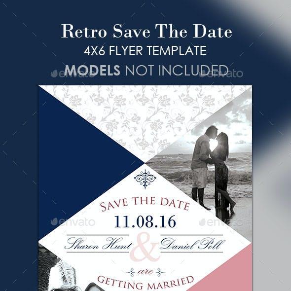 Retro Save The Date
