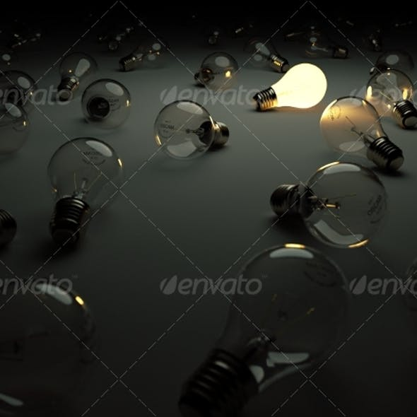 Light Bulbs - Standing Out From The Crowd