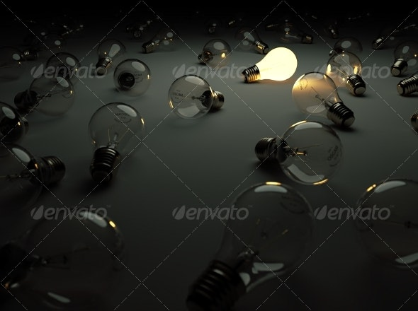 Light Bulbs - Standing Out From The Crowd - Miscellaneous Backgrounds