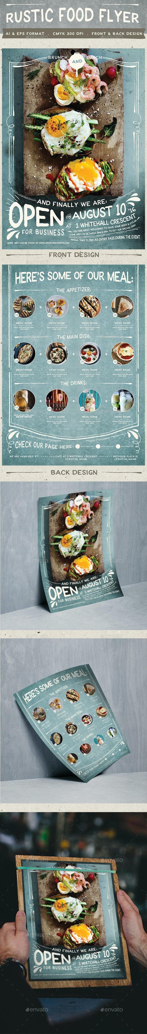 Rustic Food Promo Flyer - Restaurant Flyers
