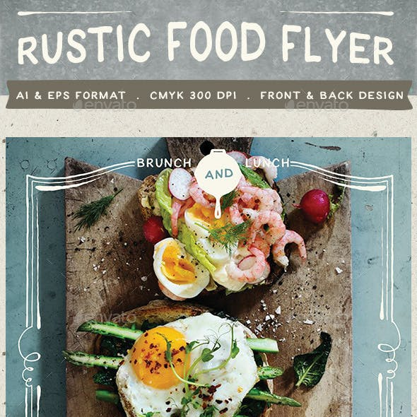 Rustic Food Promo Flyer