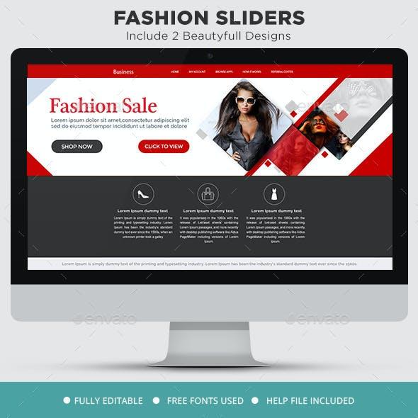Fashion Sale Sliders - 2 Designs