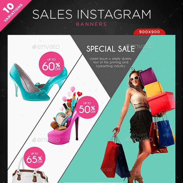 Sales Instagram Banners - 10 Templates