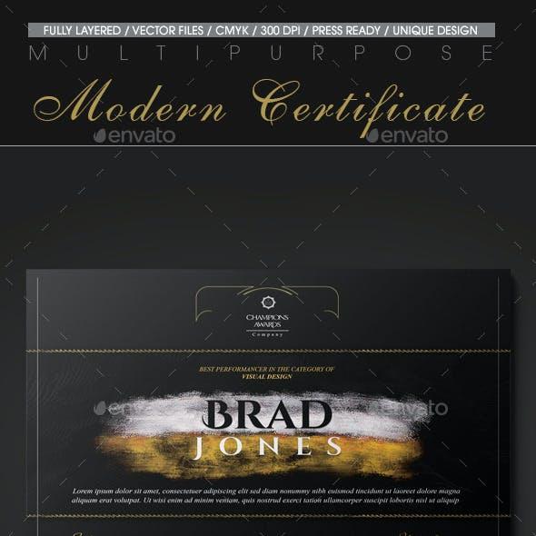 Multipurpose Modern Certificate v.16