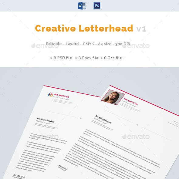 Resume Letterhead Graphics Designs Template From GraphicRiver