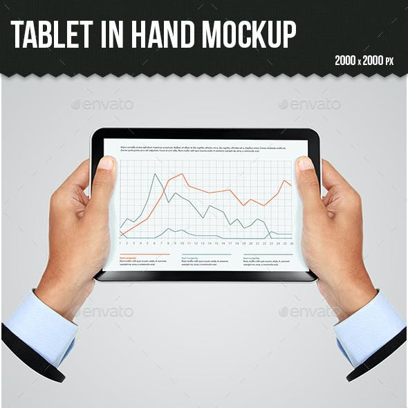 Tablet in Hand Mock-up