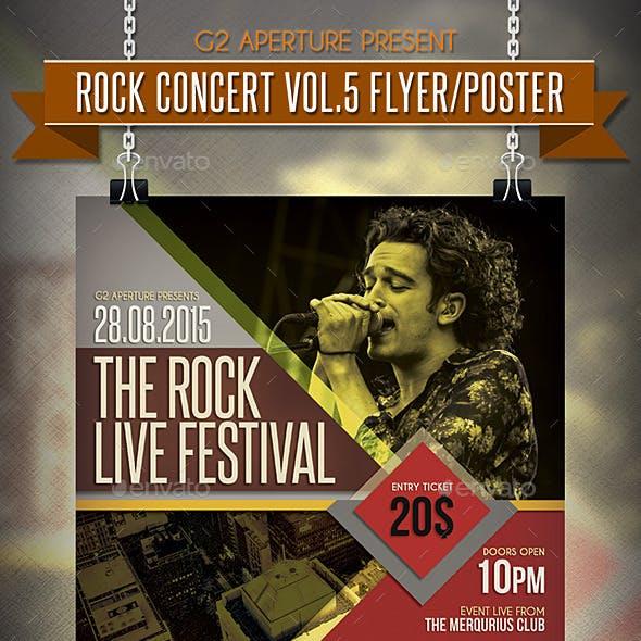 Rock Concert Flyer / Poster Vol.5