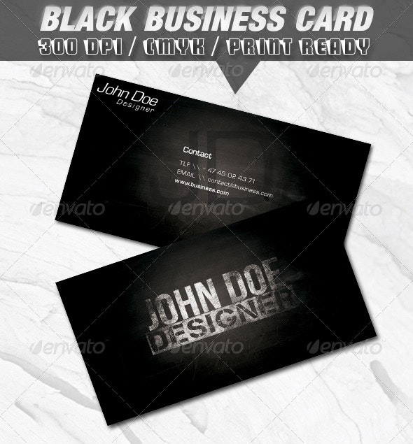 Black Business Card - Grunge Business Cards