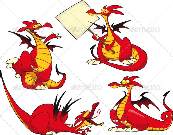 Funny dragons.  - Monsters Characters