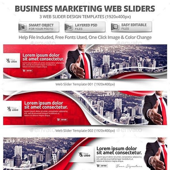 Business Marketing Web Slider Templates
