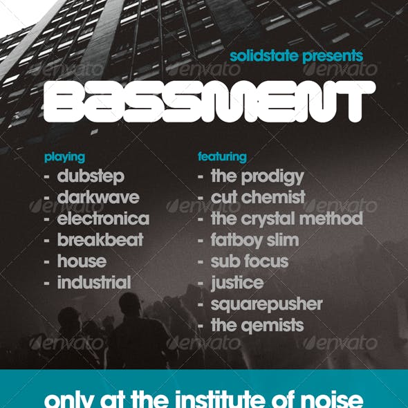 Bassment - Flyer Template