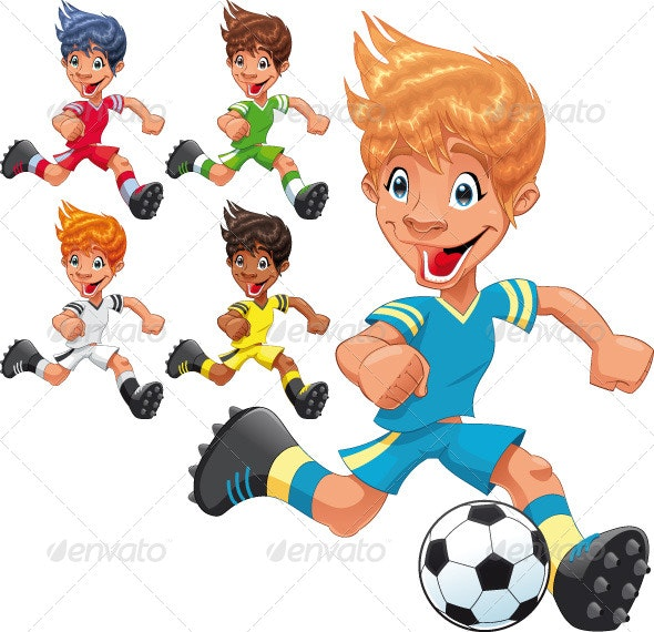 Soccer Players. - Sports/Activity Conceptual