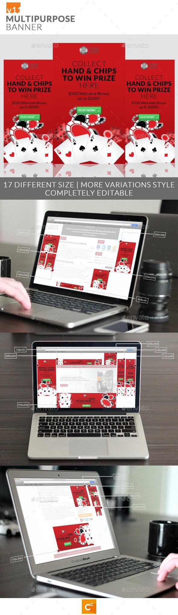 Multipurpose Banner Ads v11 - Banners & Ads Web Elements