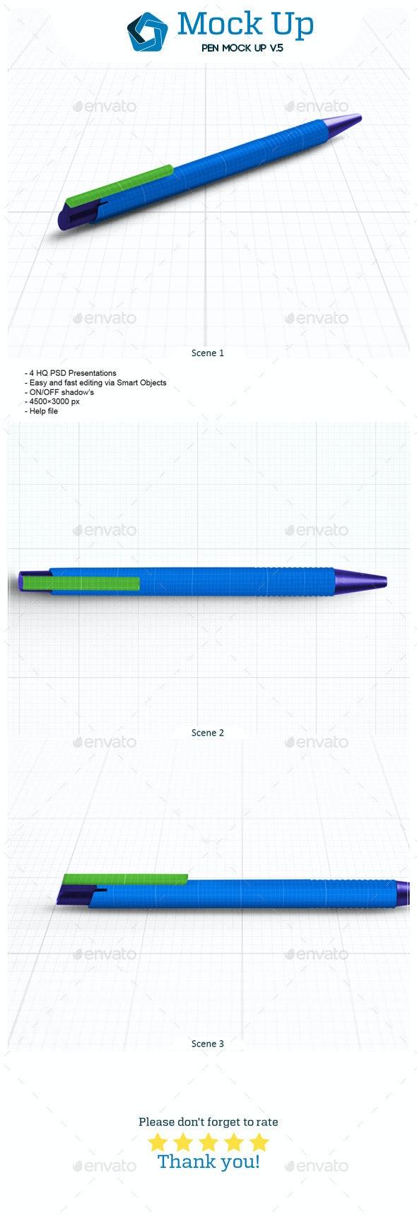 Pen Mock Up V.5 - Miscellaneous Product Mock-Ups