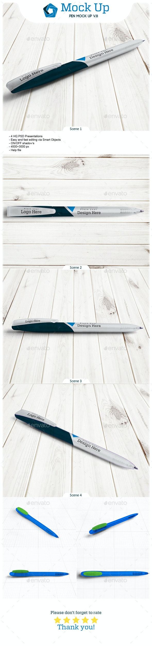 Pen Mock Up V.8 - Miscellaneous Product Mock-Ups