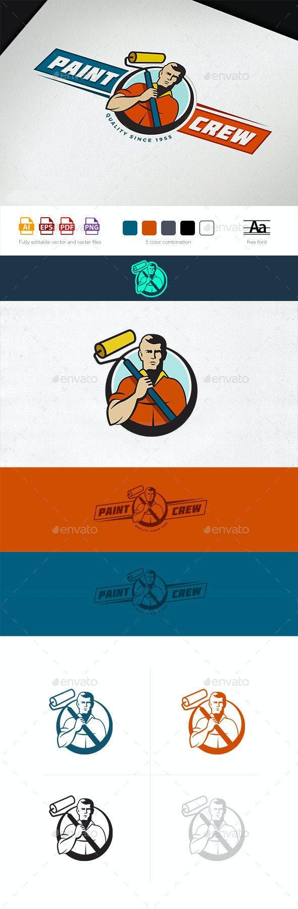 Paint Crew Logo Template - Humans Logo Templates