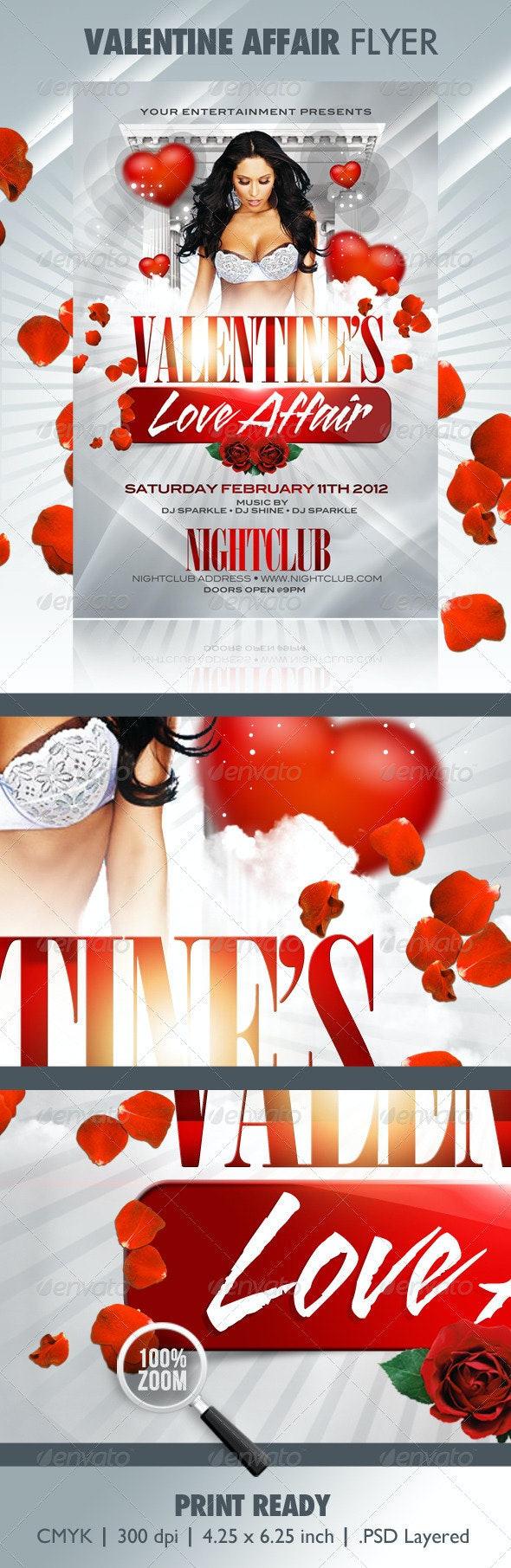 Valentine Affair Party Template - Clubs & Parties Events